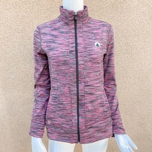 Straight down purple workout jackets a small